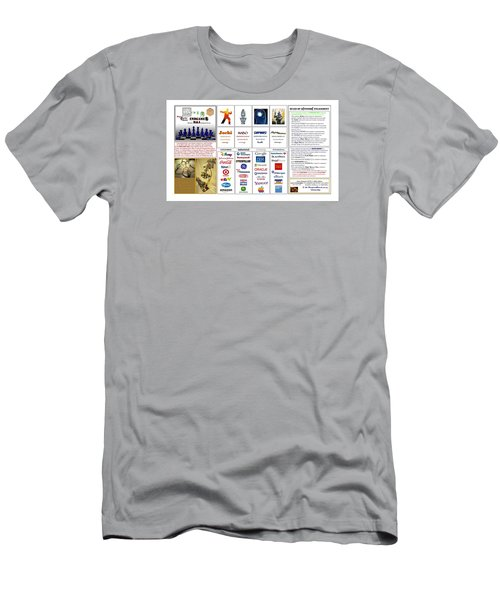 Endgames M And A Djia Men's T-Shirt (Slim Fit) by Peter Hedding