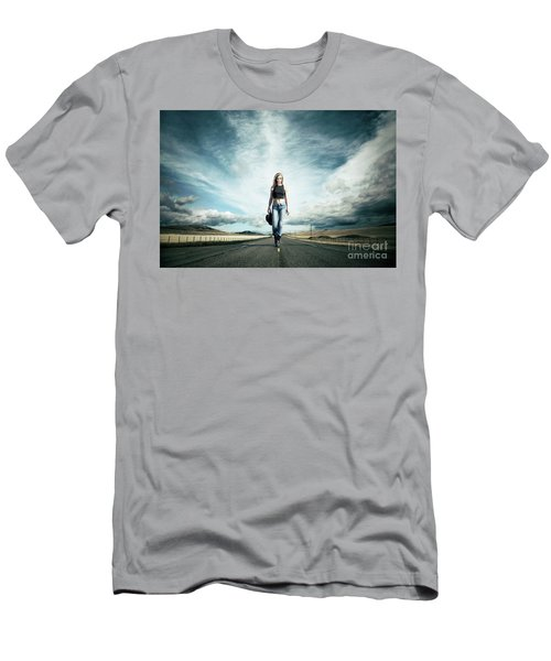 Endless Road To Happiness Men's T-Shirt (Athletic Fit)