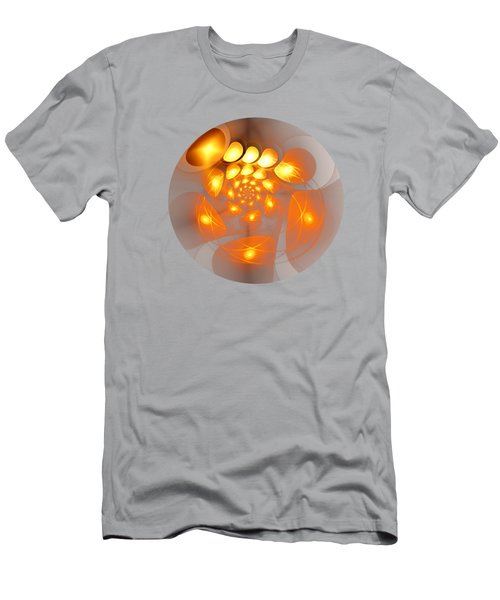 Men's T-Shirt (Slim Fit) featuring the digital art Energy Source by Anastasiya Malakhova