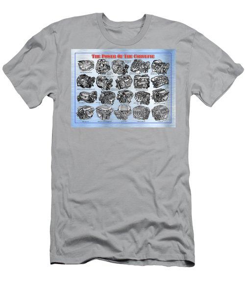 Eng-19_corvette-engines Men's T-Shirt (Athletic Fit)