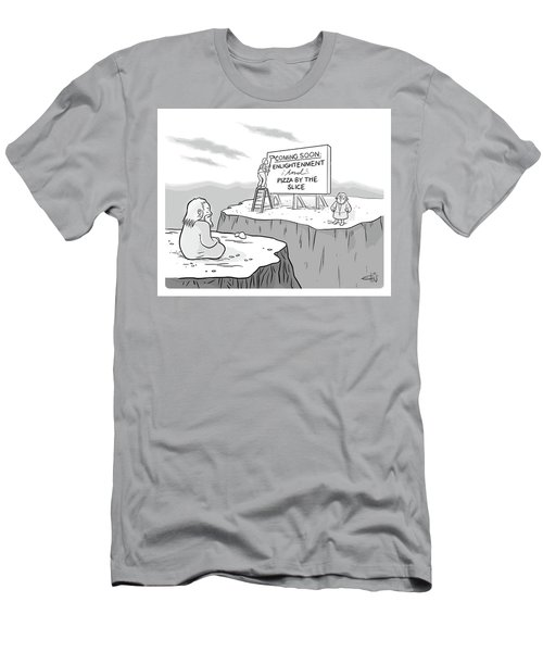 Enlightenment And Pizza Men's T-Shirt (Athletic Fit)