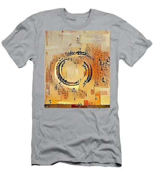 Men's T-Shirt (Athletic Fit) featuring the digital art Enso Calligraphy  by Marianna Mills