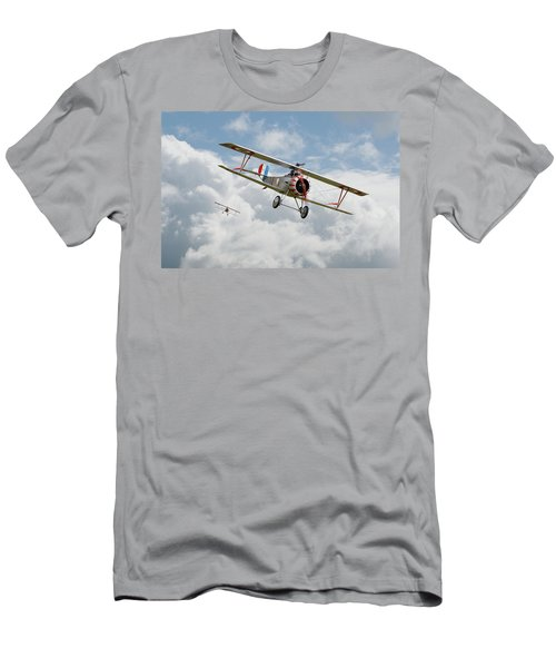 Men's T-Shirt (Slim Fit) featuring the photograph Escadrille Lafayette - Hunters by Pat Speirs