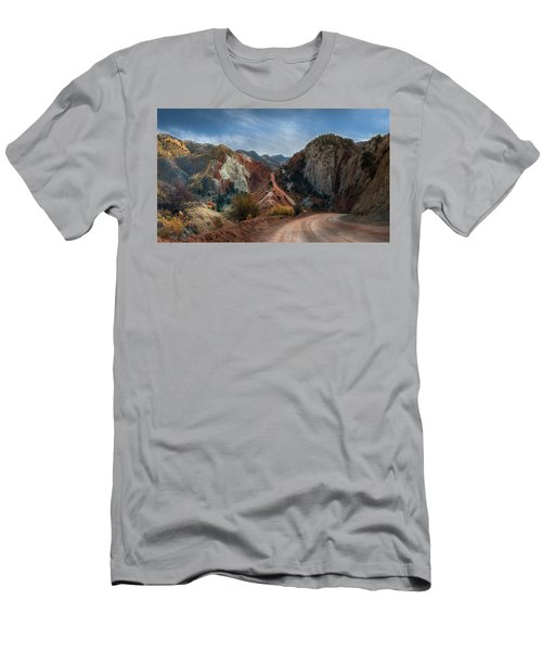 Grand Staircase Escalante Road Men's T-Shirt (Athletic Fit)
