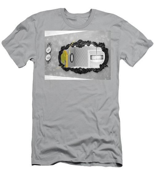 Escape From The Yellow Room Men's T-Shirt (Slim Fit) by Debra Baldwin