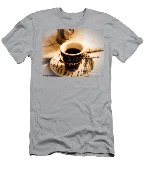 Espresso Anyone Men's T-Shirt (Slim Fit) by MaryLee Parker