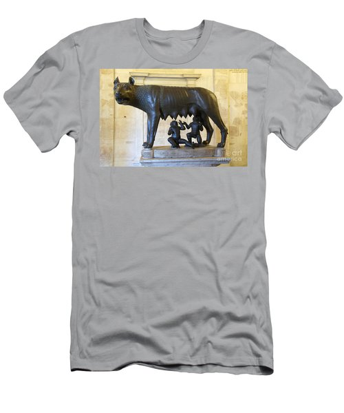 Etruscan Bronze Statue Of The She-wolf With Romulus And Remus. Capitoline Museum. Capitoline Hill. R Men's T-Shirt (Athletic Fit)