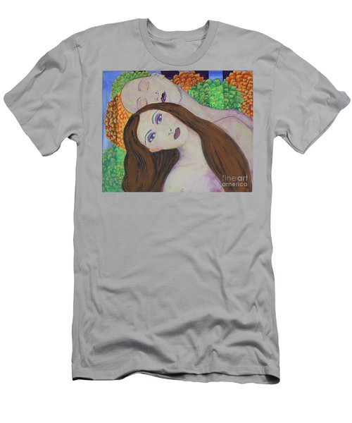 Men's T-Shirt (Slim Fit) featuring the painting Eve Emerges by Kim Nelson