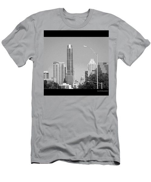 Even In #blackandwhite, The #skyline Of Men's T-Shirt (Athletic Fit)