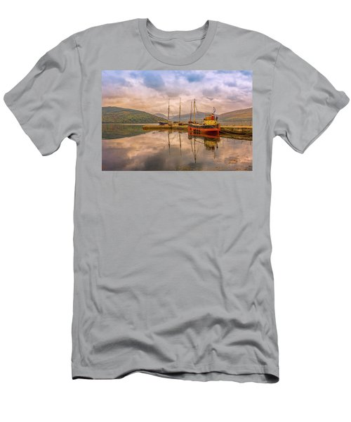 Evening At The Dock Men's T-Shirt (Slim Fit) by Roy McPeak