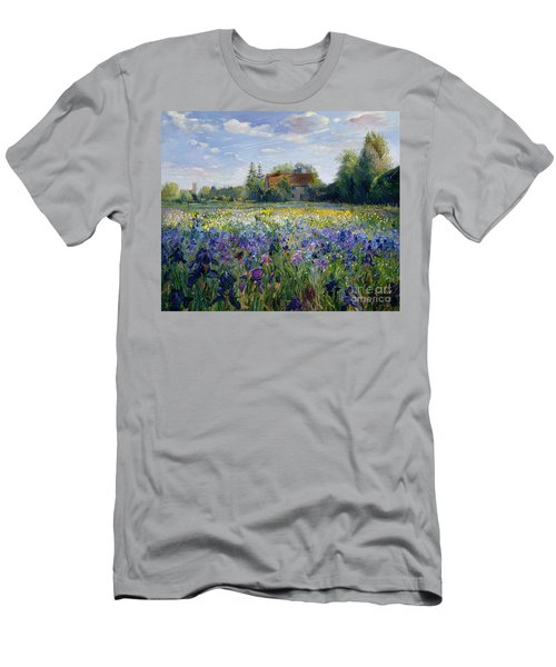 Evening At The Iris Field Men's T-Shirt (Athletic Fit)