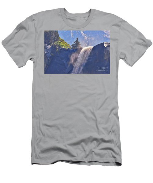 Evergreen Pines And Bridalveil Falls Men's T-Shirt (Athletic Fit)