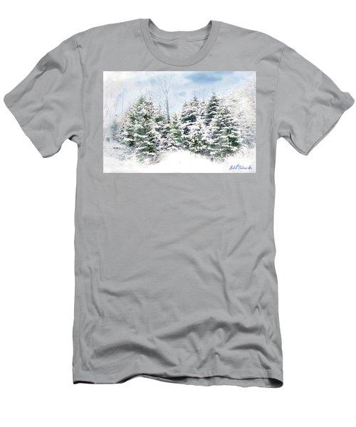 Men's T-Shirt (Slim Fit) featuring the digital art Evergreens by John Selmer Sr