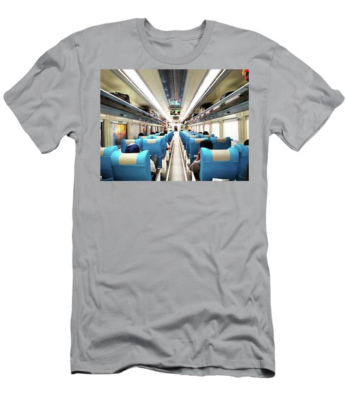 Perspective Inside A Train Men's T-Shirt (Athletic Fit)
