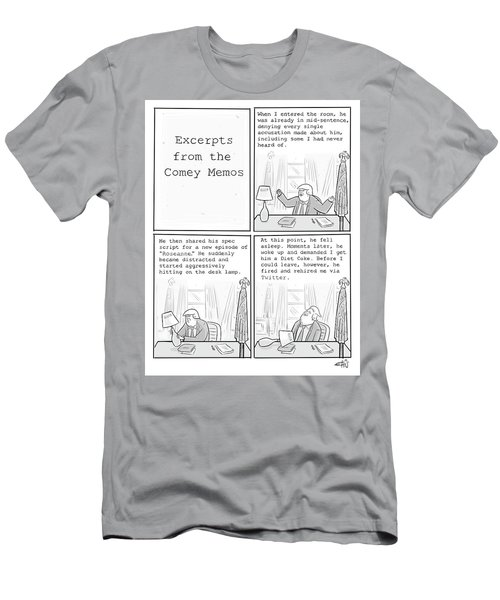 Excerpts From The Comey Memos Men's T-Shirt (Athletic Fit)