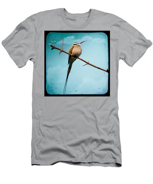 Men's T-Shirt (Athletic Fit) featuring the photograph Exotic Birds - White Throated Bee Eater by Gary Heller