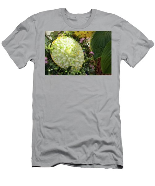 Extravagant Jeweled Dishes - Carved Melon Flower With Green Pearls Men's T-Shirt (Athletic Fit)