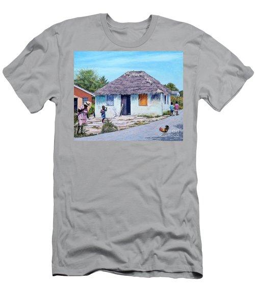 Exuma Thatch Hut Men's T-Shirt (Athletic Fit)