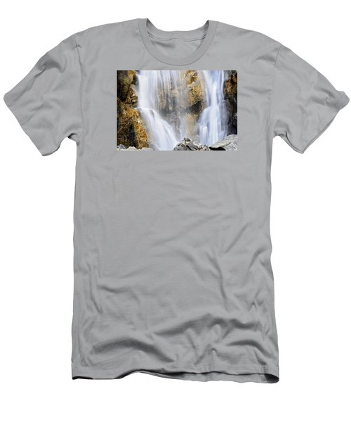 Men's T-Shirt (Slim Fit) featuring the photograph Eyes In The Rocks- Holland Falls  by Janie Johnson