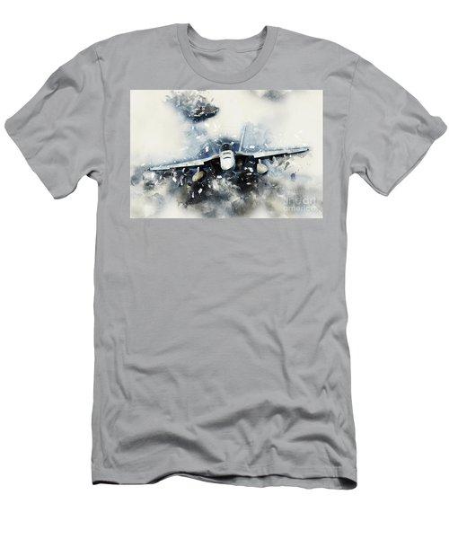 F-18 Super Hornet Painting Men's T-Shirt (Athletic Fit)