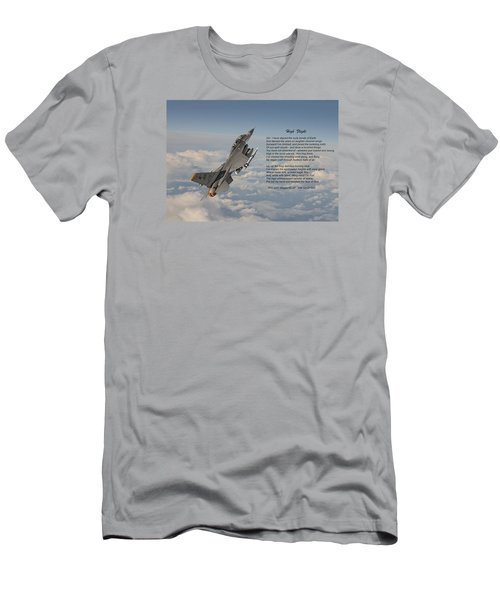 F16 - High Flight Men's T-Shirt (Slim Fit) by Pat Speirs