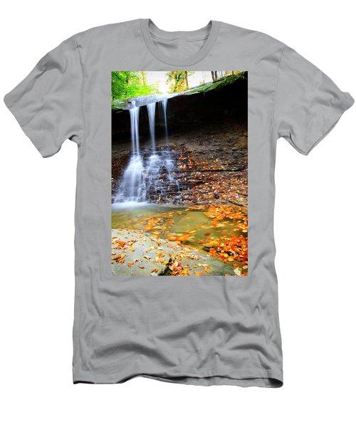 Fall At Blue Hen Falls Men's T-Shirt (Athletic Fit)