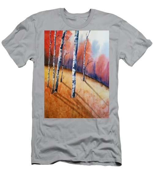 Fall In The Birches Men's T-Shirt (Athletic Fit)