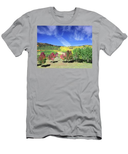 Fall On County Road 12 Men's T-Shirt (Athletic Fit)