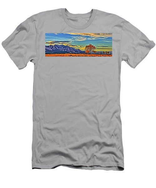 Men's T-Shirt (Slim Fit) featuring the photograph Fall Over The Flatirons by Scott Mahon