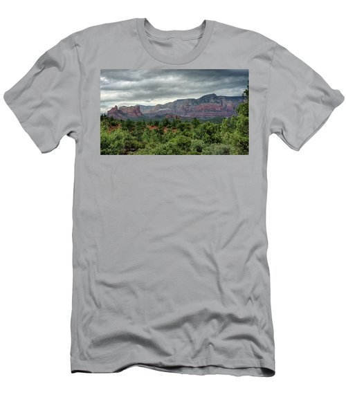 Men's T-Shirt (Athletic Fit) featuring the photograph Fall Rains In Sedona  by Saija Lehtonen