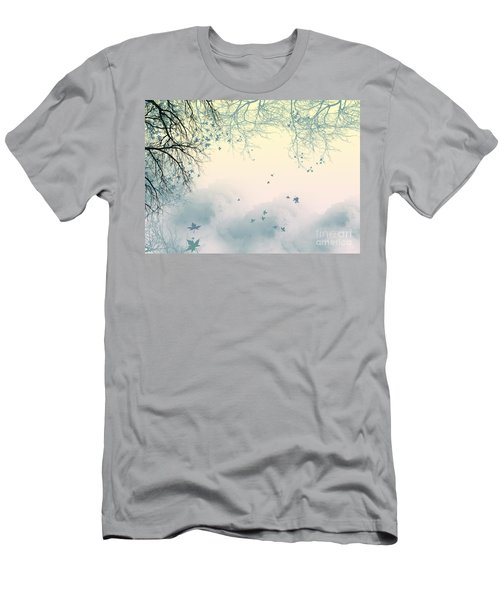 Falling Leaves Men's T-Shirt (Slim Fit) by Trilby Cole
