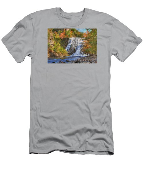 Falls In New York Men's T-Shirt (Slim Fit) by Sharon Batdorf