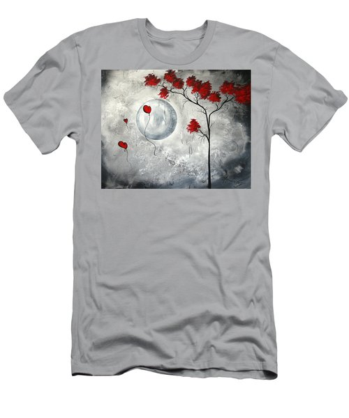 Far Side Of The Moon By Madart Men's T-Shirt (Athletic Fit)