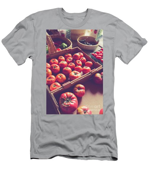 Farm Fresh Tomatoes At A Farm Stand Men's T-Shirt (Athletic Fit)