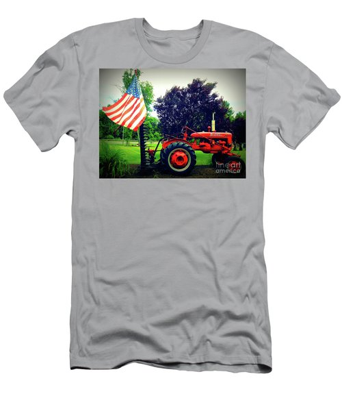 Farmall And Flag Men's T-Shirt (Athletic Fit)