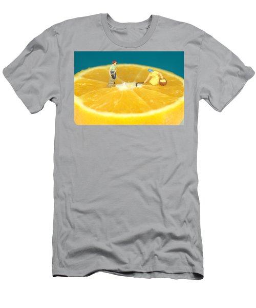 Farmers On Orange Men's T-Shirt (Athletic Fit)
