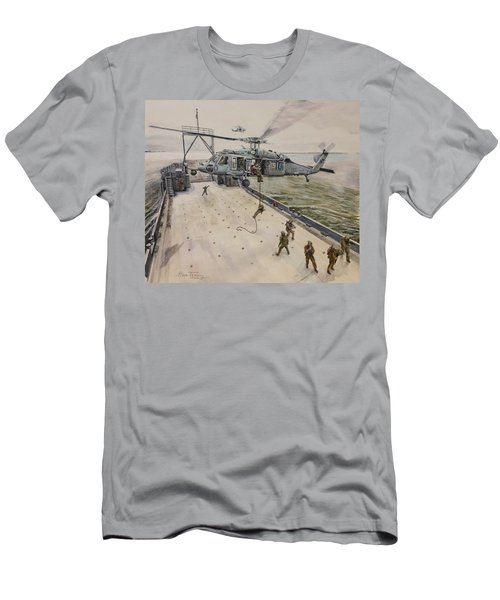 Fast Rope Men's T-Shirt (Slim Fit) by Stan Tenney