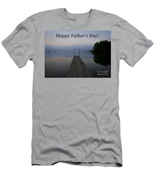 Men's T-Shirt (Slim Fit) featuring the photograph Father's Day Dock by Douglas Stucky