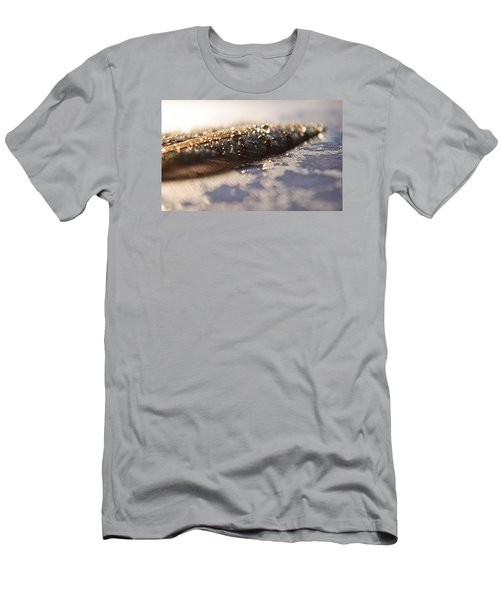 Men's T-Shirt (Slim Fit) featuring the photograph Feather In Puddle by Adria Trail