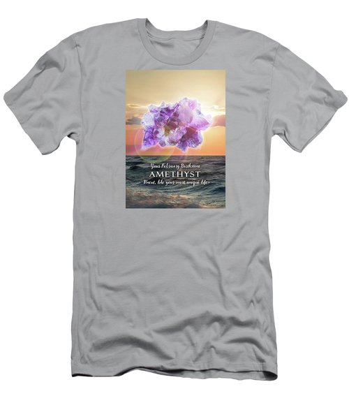 February Birthstone Amethyst Men's T-Shirt (Athletic Fit)