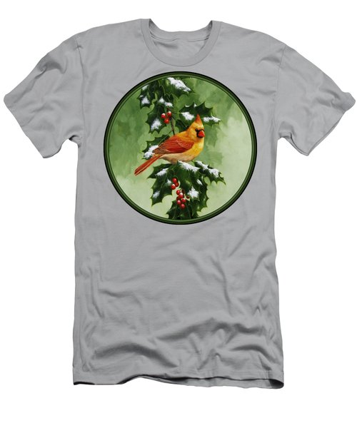 Female Cardinal And Holly Phone Case Men's T-Shirt (Athletic Fit)