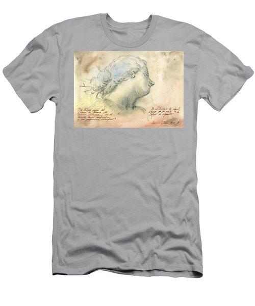 Female Head Study Men's T-Shirt (Athletic Fit)