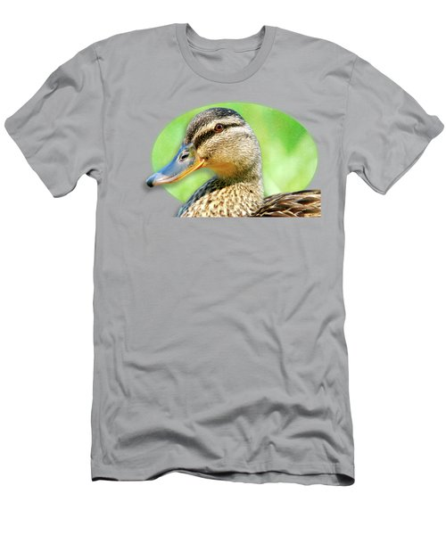 Female Mallard Duck Men's T-Shirt (Athletic Fit)