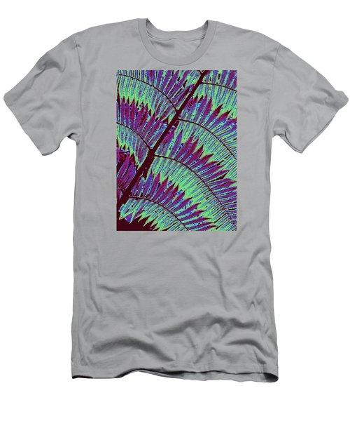 Fern In Technicolor Men's T-Shirt (Slim Fit) by Ranjini Kandasamy