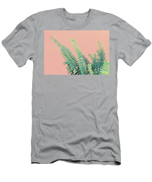 Ferns On Pink Men's T-Shirt (Athletic Fit)