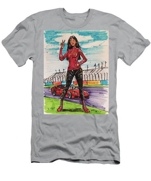Ferrari Girl Men's T-Shirt (Athletic Fit)