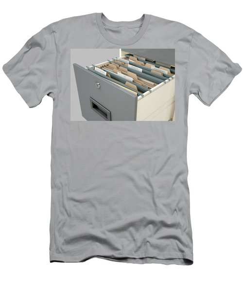 Filing Cabinet Drawer Open Tax Men's T-Shirt (Athletic Fit)