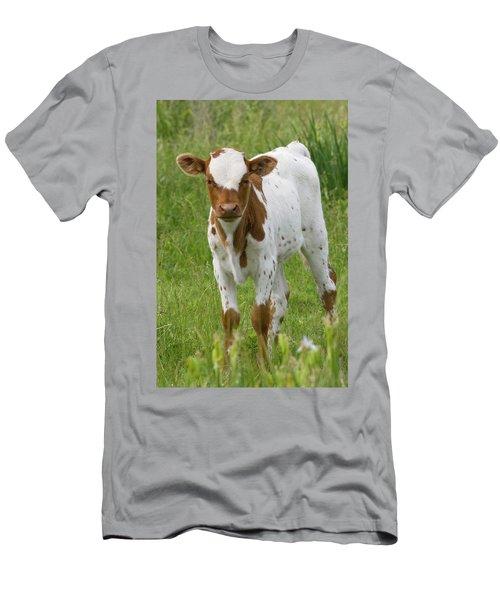Fine Looking Longhorn Calf Men's T-Shirt (Athletic Fit)