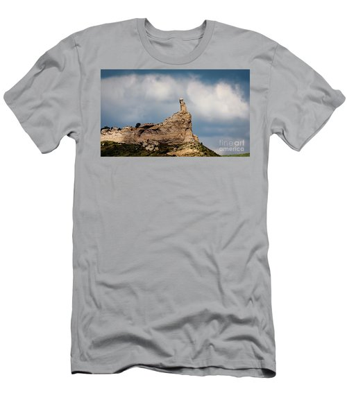 Men's T-Shirt (Athletic Fit) featuring the photograph Finger Rock by Jon Burch Photography
