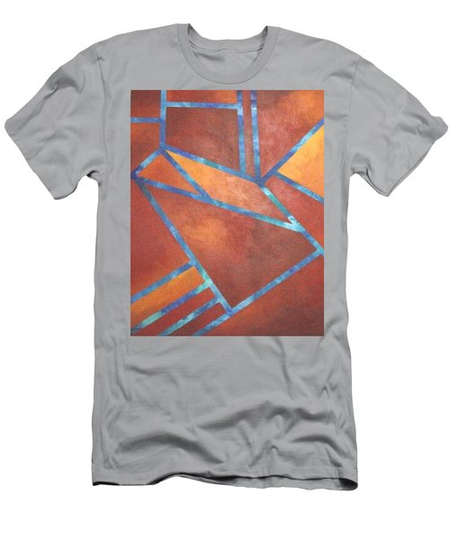 Men's T-Shirt (Slim Fit) featuring the painting Fire From The Sky by Bernard Goodman